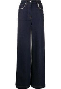 Dolce & Gabbana Calça Jeans Com Aplicações - Azul