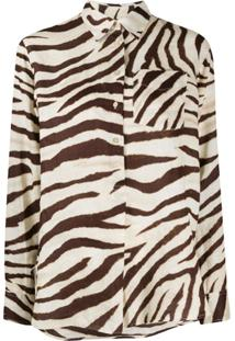 Polo Ralph Lauren Camisa Mangas Longas Com Estampa De Zebra - Neutro