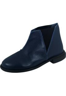 Bota S2 Shoes Sara Couro Marinho
