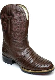 0223e298c38e7 ... Bota Country Masculina Clacle Casco De Tatu Couro Bovino Cano Alto -  Masculino-Chocolate+