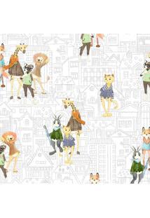 Papel De Parede Lyam Decor Bichos Urbanos Multicolorido