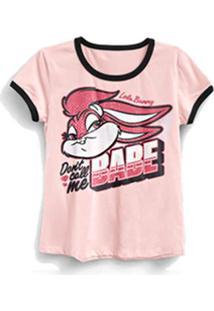 Camiseta Ringer Feminina Looney Tunes Not Your Babe - Feminino