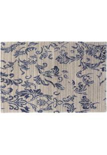 Tapete Design Rangoli Natural/Dark Blue