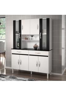 Cozinha Compacta Sampaio 8 Pt 2 Gav Branco Com Preto