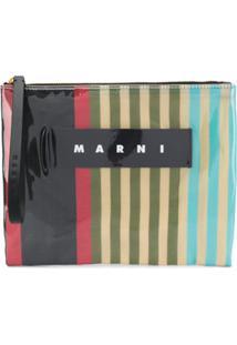 Marni Glossy Finish Clutch - Neutro