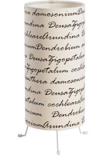 Luminária Bueno Bege Letras