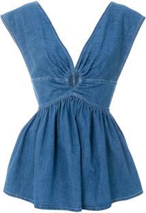 Stella Mccartney Blusa Jeans - Azul