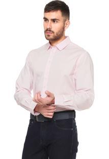 Camisa Colcci Slim Fit Básica Rosa