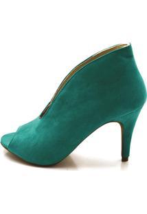 Sapato Scarpin Jade Em Camurã§A - Verde - Feminino - Dafiti