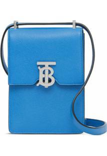 Burberry Bolsa Transversal Robin Monogramada - Azul
