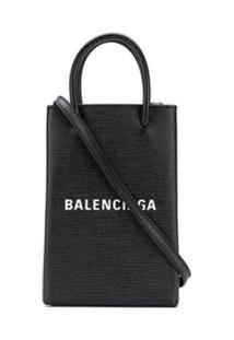 Balenciaga Bolsa Porta Celular - Preto