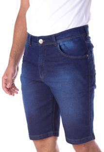 Bermuda 668 Jeans Azul Traymon Modelagem Slim