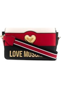Love Moschino Tri-Colour Crossbody Bag - Preto