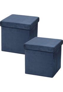 Puffs Lyam Decor Desmontável Azul - Tricae