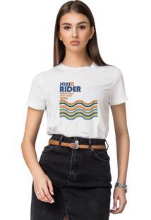 Camiseta Basica Joss Santos Rider Branca - Kanui