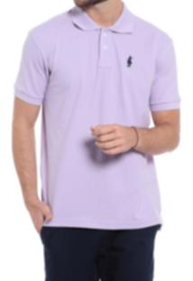 Camisa Polo Club Polo Collection Basic Lilas
