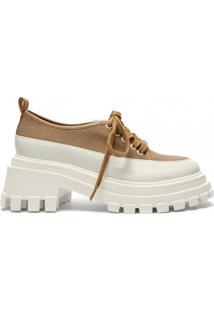 Sapato Oxford Plataforma Tratorado Lona Schutz S212040003