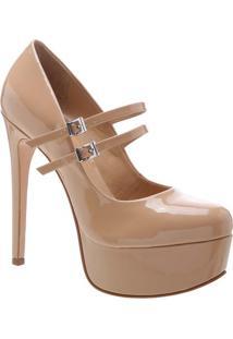 Sapato Meia Pata Envernizado - Bege Escuroschutz