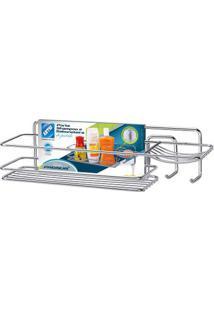 Porta Shampoo Retangular Cromado Premium 1241 Arthi