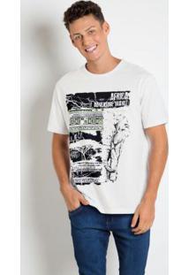 Camiseta Com Estampa Etnica