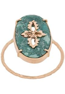 Pascale Monvoisin 9Kt Rose Gold Sunday Turquoise Ring - Dourado