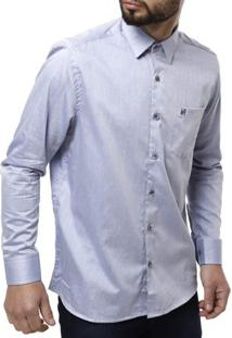 Camisa Manga Longa Masculina Elétron - Masculino-Azul
