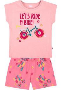 "Pijama ""Let'S Ride""- Rosa Claro & Rosapuc"