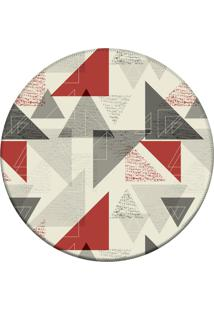 Tapete Love Decor Redondo Wevans Triangulo Geomã©Tricos Off 94Cm - Off-White - Dafiti