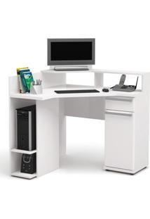 Escrivaninha Para Computador 1 Gaveta 1 Porta S975 Kappesberg Branco