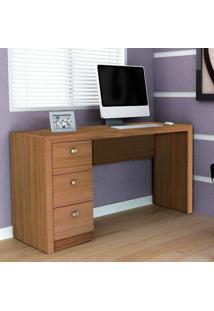 Escrivaninha/Mesa Para Escritório Me4102 Amêndoa - Tecno Mobili