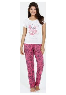 Pijama Feminino Manga Curta Estampa Paisley Marisa