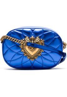 Dolce & Gabbana Bolsa Tiracolo De Couro Matelassê - Azul