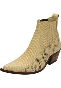 Bota Dr Shoes Texana Areia