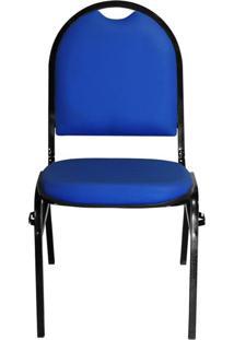 Cadeira Pethiflex Essencial Hot Fixável Couro Azul