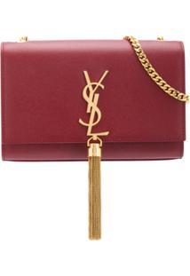 Saint Laurent Bolsa Tiracolo Kate Pequena - Vermelho