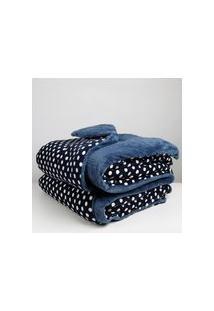 Edredom Solteiro Dupla Face Altenburg Blend Confort Azul
