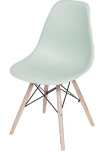 Cadeira Eames Polipropileno Verde Claro Fosco Base Madeira - 49330 - Sun House