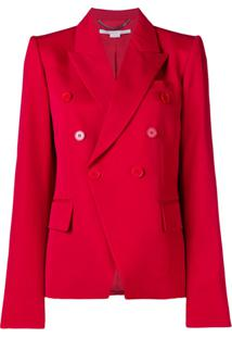 Stella Mccartney Blazer Com Abotoamento Duplo - Vermelho
