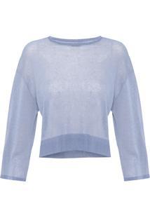 Blusa Feminina Knit Linen - Azul