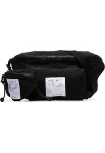 Satisfy Bolsa Carteiro Com Patch De Logo - Preto