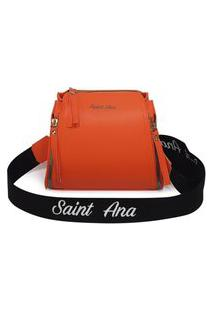 Bolsa Saint Ana Feminina Transversal Pequena Casual Laranja