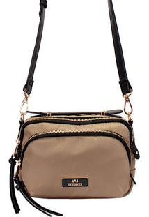 Bolsa Crossbody Pequena Its! Nylon Taupe