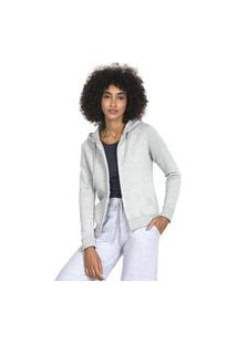 Jaqueta Feminina Moletom Mescla Polo Wear 117295 Mescla Cinza