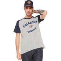 b6d9dd27fff54 Camiseta Nba Oklahoma City Thunder Cinza Azul-Marinho