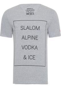 Camiseta Masculina Vodka And Ice - Cinza