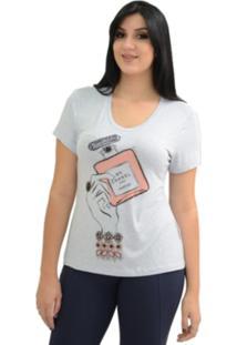 T-Shirt Energia Fashion Perfume Azul