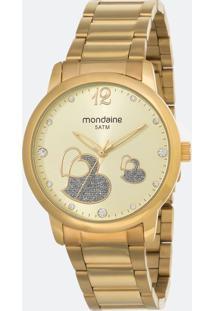 Kit Relógio Feminino Mondaine 53627Lpmvde1Kc Analógico 5Atm + Conjunto Semijóia