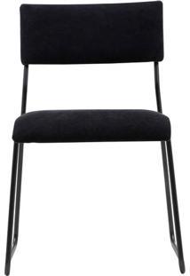 Cadeira Keeper Estofada Lona Base Preta Micro Textura - 35720 Sun House