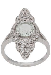 V Jewellery Anel Entwine Com Ametista - Prateado