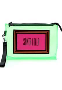 Clutch Santa Lolla Vinil Verde